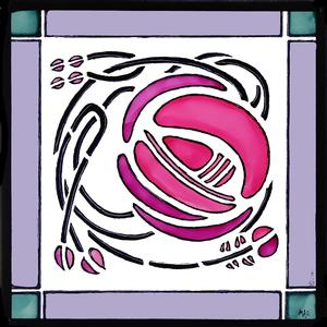 Charles Rennie Mackintosh Stained Glass Window Clings From
