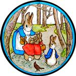 Mrs Bunny and Peter in the Woods
