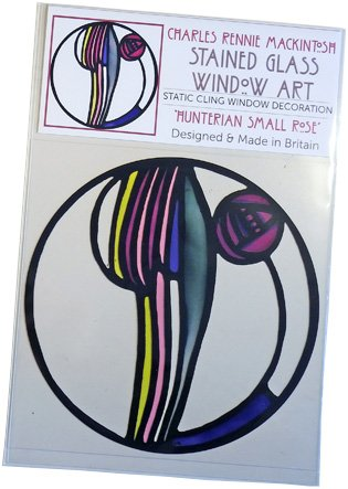 Hunterian Small Rose Window Cling in packaging